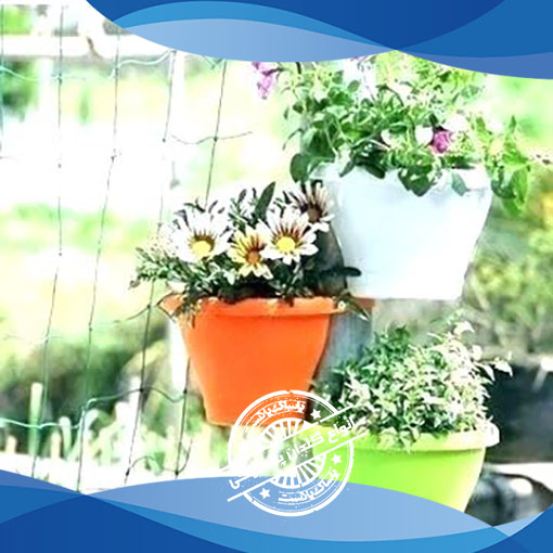 گلدان پلاستیکی گل سنگ