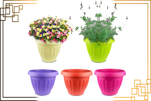 گلدان پلاستیکی زیباسازان