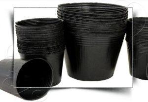 گلدان پلاستیکی سطل